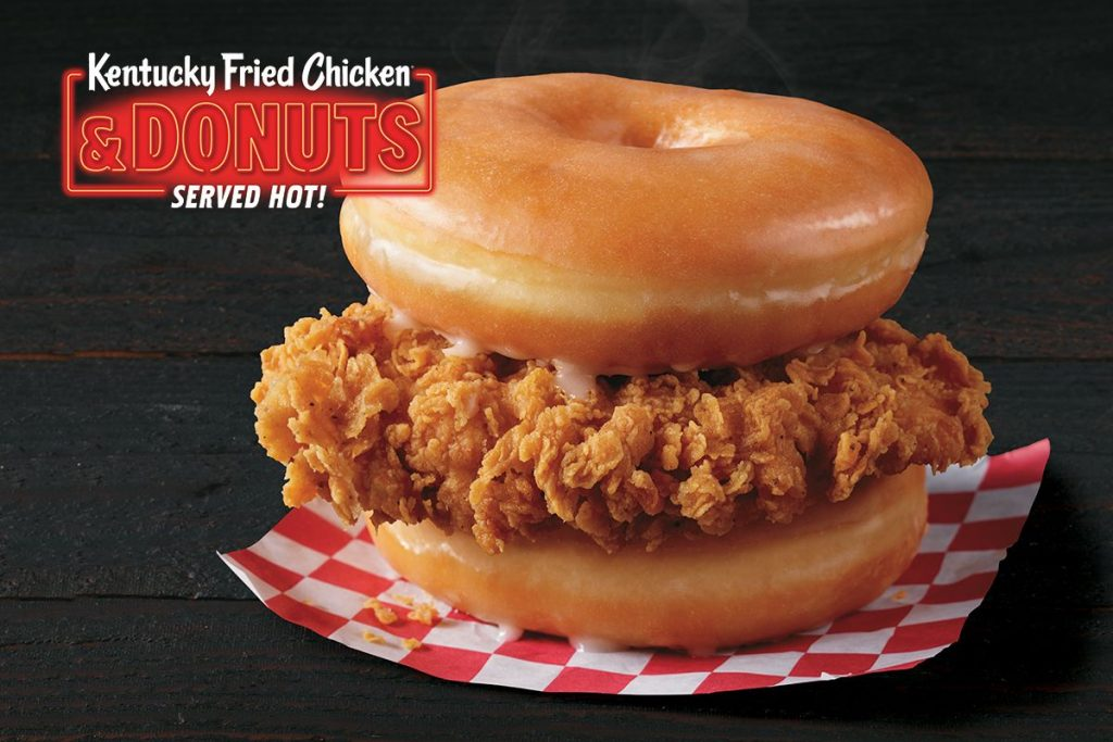 Donut And Fried Chicken Sandwich